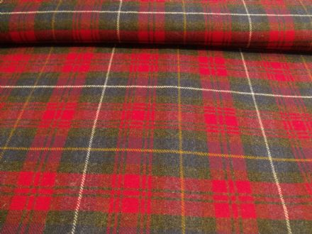 100% Lambswool Plaid Tartan Fabric AZ21